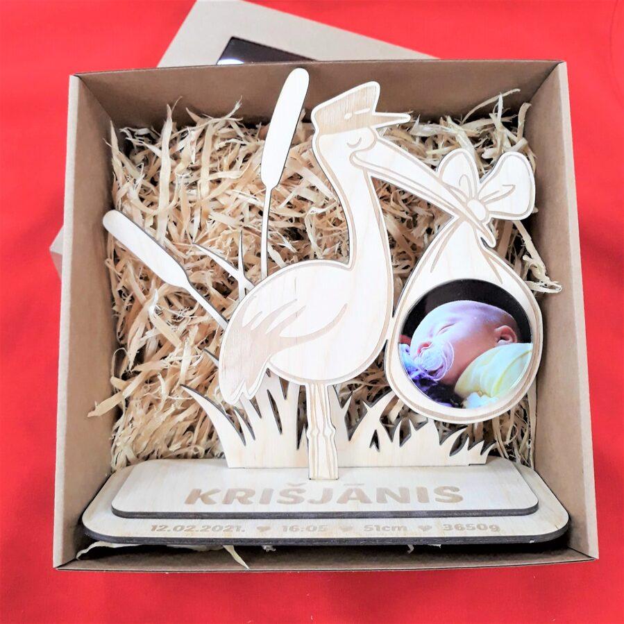 Personalizēts foto dekors dāvanu kastītē