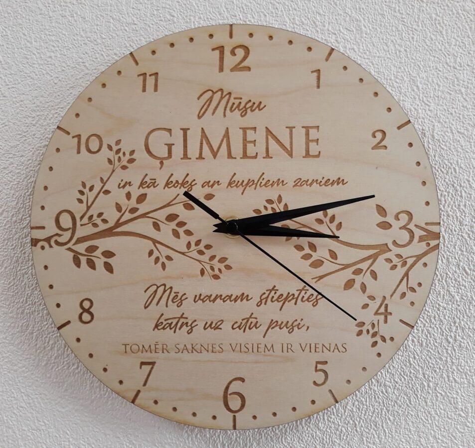 Sienas pulkstenis - Ģimene