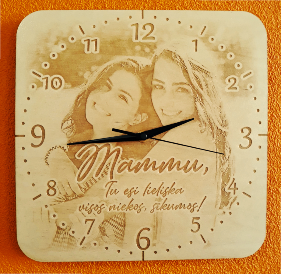 Personalizēts pulkstenis mammai