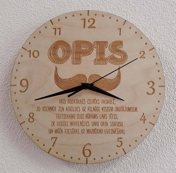 Sienas pulkstenis - Opis