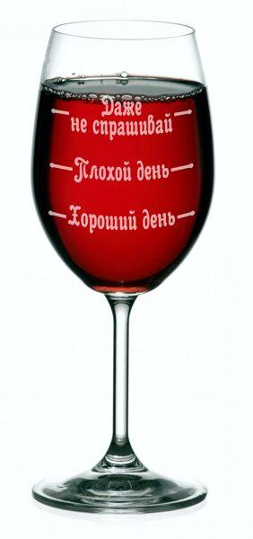 Glāze ar gravējumu - Garastāvokļa mērītājs RUS